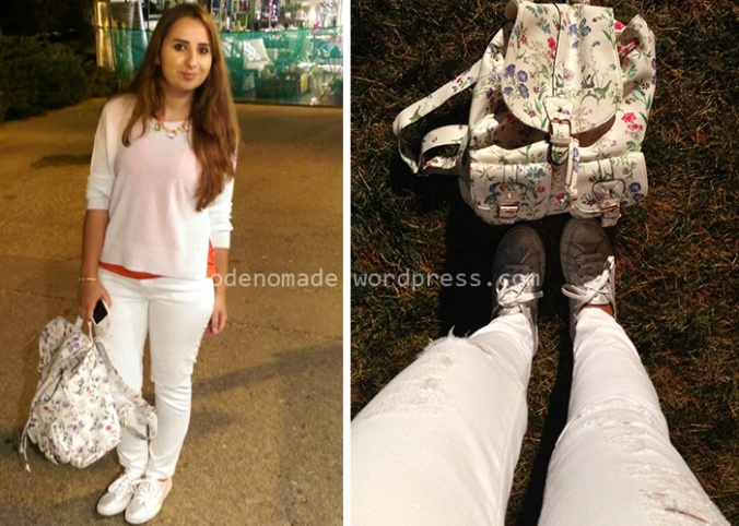 My outfit: Zara jeans & Top - Massimo Dutti Tshirt - Suerga shoes - Accesorize backpack - H&M necklace