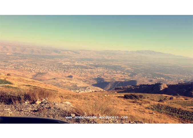 Shot of the Bekaa surroundings taken from Zahleh.